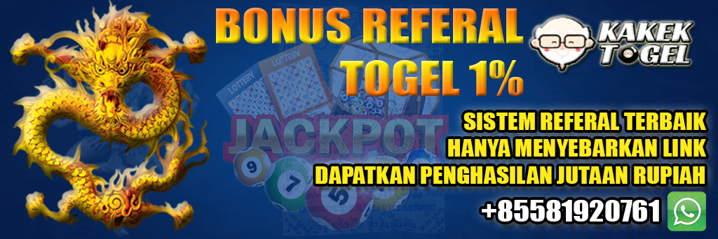 KAKEKTOGEL - Bonus Referal Togel 1%